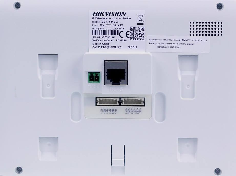 HIKVISION DS-KH6310-W Video Indoor Station 7'' touch Wi-Fi