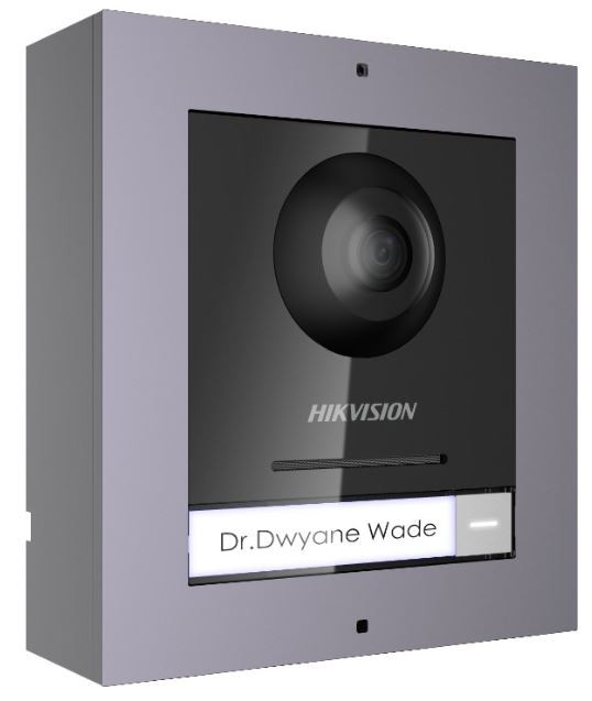 DS-KIS602, HIKVISION, IP Video Door Station, Videosurveillance, Access Control, Video Resolution : 1080p, Audio in : Integrated microphone, Internal speaker : Internal, App : Android & I-Phone, Colour : Black, Weather Proof IP Rating : 65,
