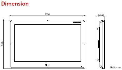 DS-KH9510-WTE1, HIKVISION, IP Video Door Station, Keypads and readers, AX PRO, AX, Videosurveillance, Intrusion, Access Control, Touchscreen : Yes, Material : Plastic, Integrated proximity reader : No, Screen size : 10'' (25.4cm),