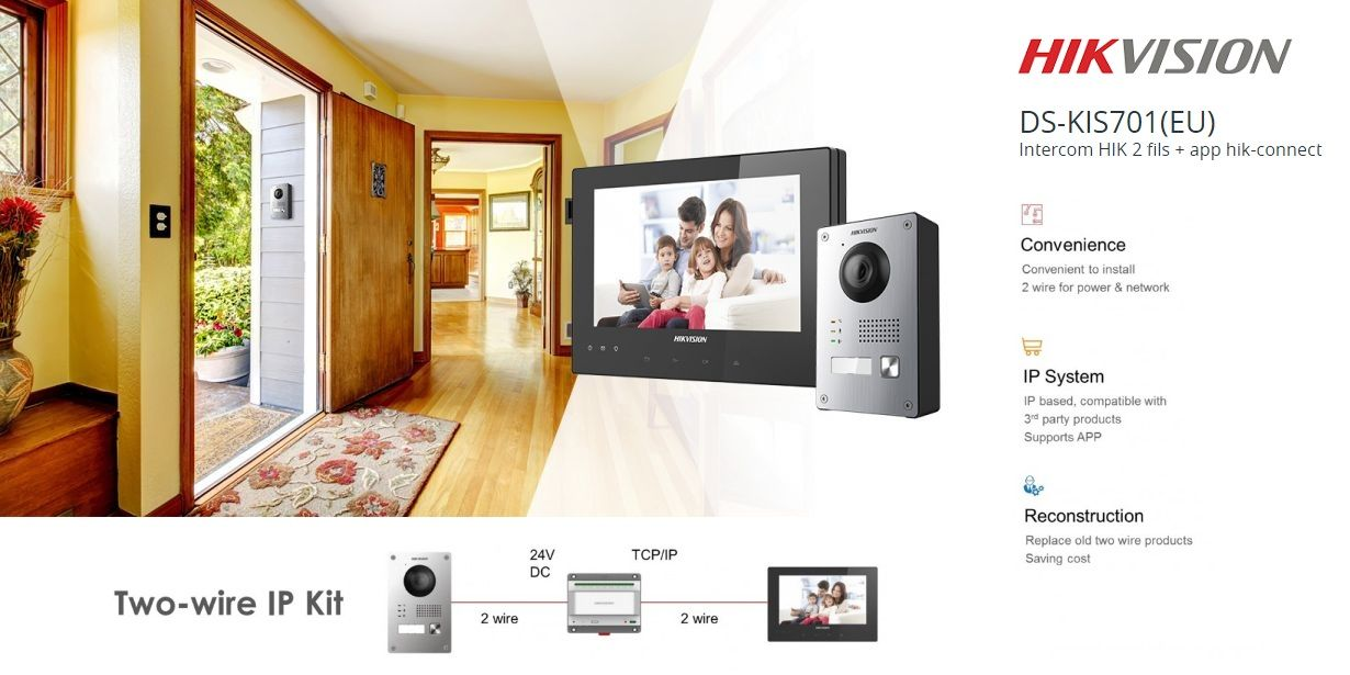 HIKVISION 2 WIRES VIDEO DOOR STATION