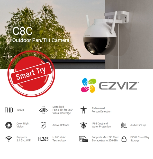 EZVIZ C8C SEPTEMBER SMART TRY