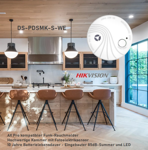 Hikvision AX Pro Funk-Rauchmelder DS-PDSMK-S-WE
