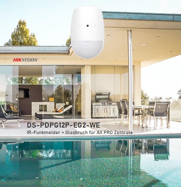 Funk-IR mit integriertem Glasbruchmelder für Hikvision AX Pro