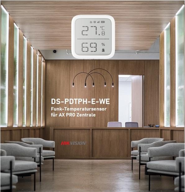 Temperatur- und Feuchtigkeitssensor für AX Pro