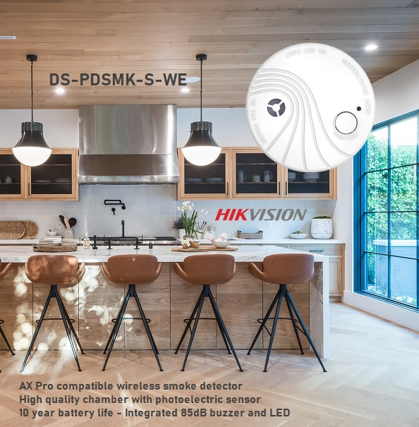 Hikvision AX Pro wireless smoke detector DS-PDSMK-S-WE