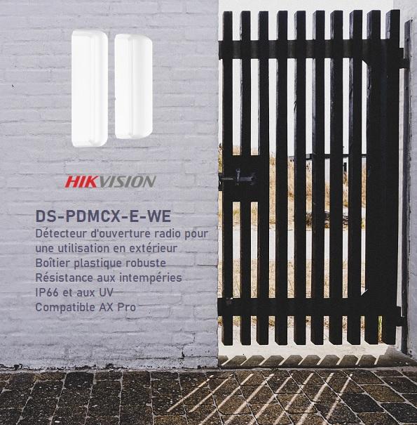 Hikvision AX Pro contact extérieur radio DS-PDMCX-E-WE