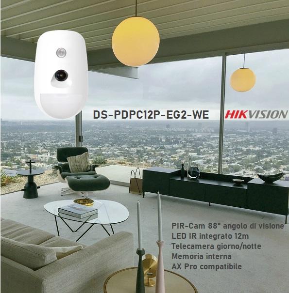 Hikvision AX Pro wireless PIRcam DS-PDPC12P-EG2-WE